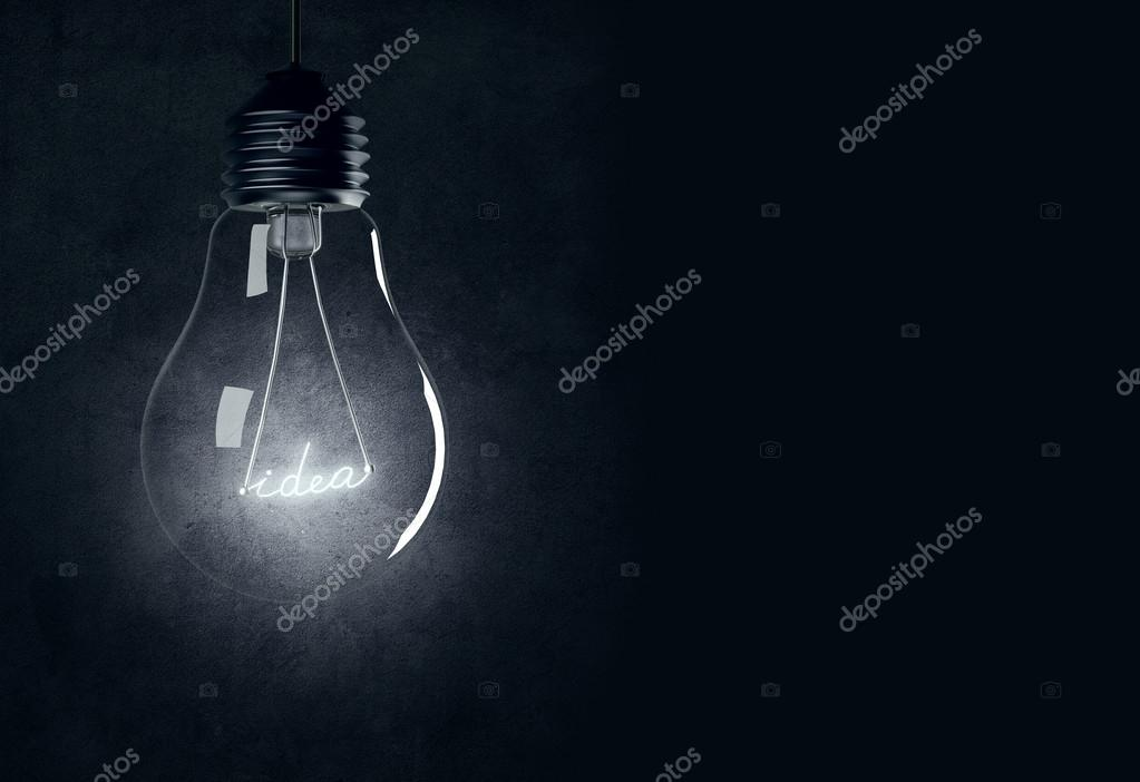 Bulb with shining idea