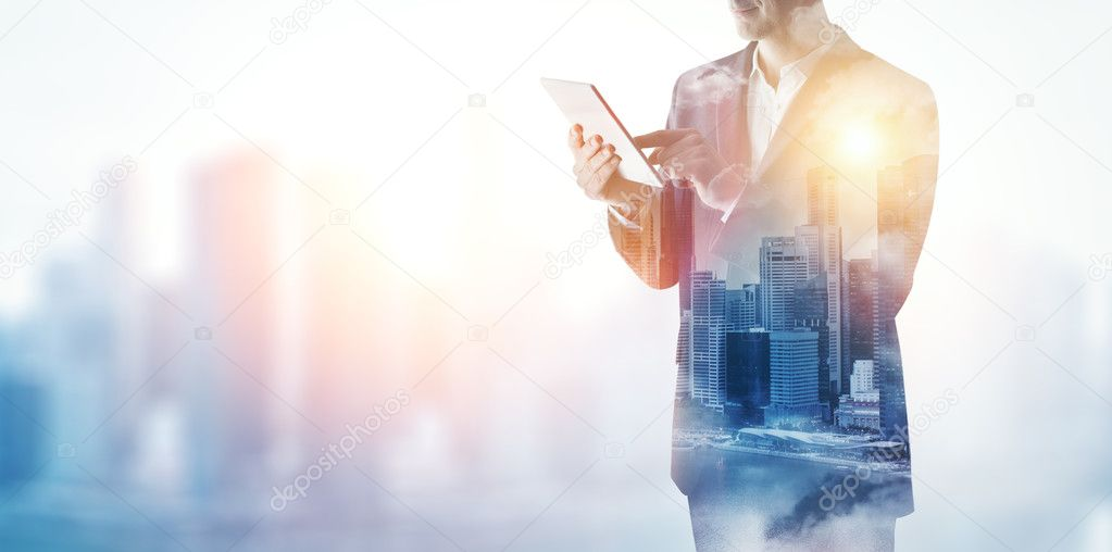 City and businessman