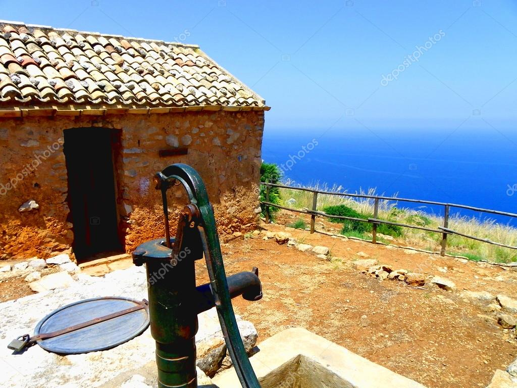 A typical house in Sicily