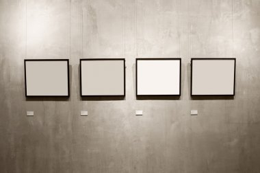 Frames on cement wall