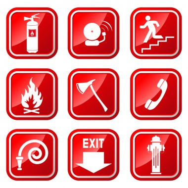 Fire Warning Signs.