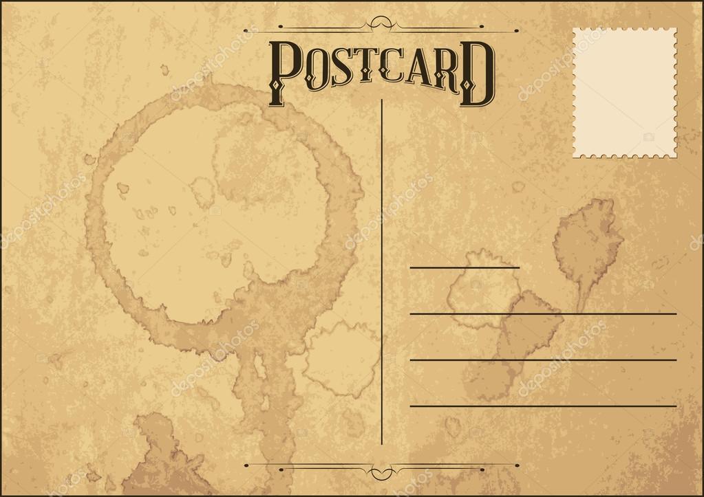 Carte postale ancienne — Image vectorielle andrejco © #23958339