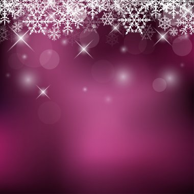 Decorative Vector Holiday Background with Snowflakes and Sparks clip art vector
