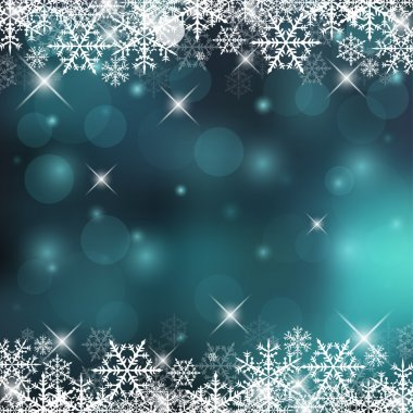 Decorative Vector Holiday Background with Snowflakes and Sparks stock vector