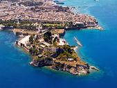 Alte Festung von Korfu Stadt, Luftaufnahme