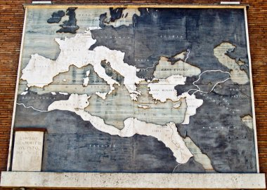 Roman Empire map in marble, Italy