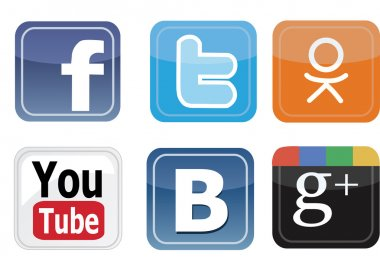 Icons social networks