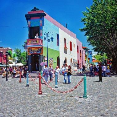 Colourful buildings, la Boca, Carminito, Buenos Aires, Argentina