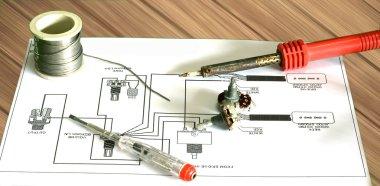 repair electric guitar from chart