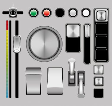 Control vector illustration on a gray background eps10 clip art vector