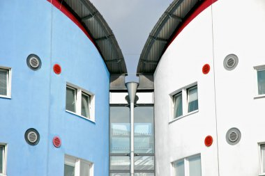 Detail of the University of East London residence halls.