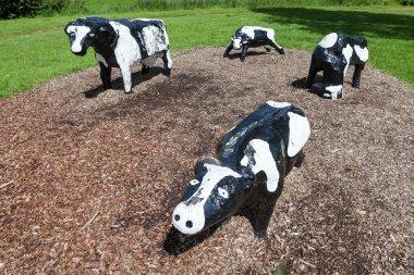 Infamous concrete cows in Milton Keynes