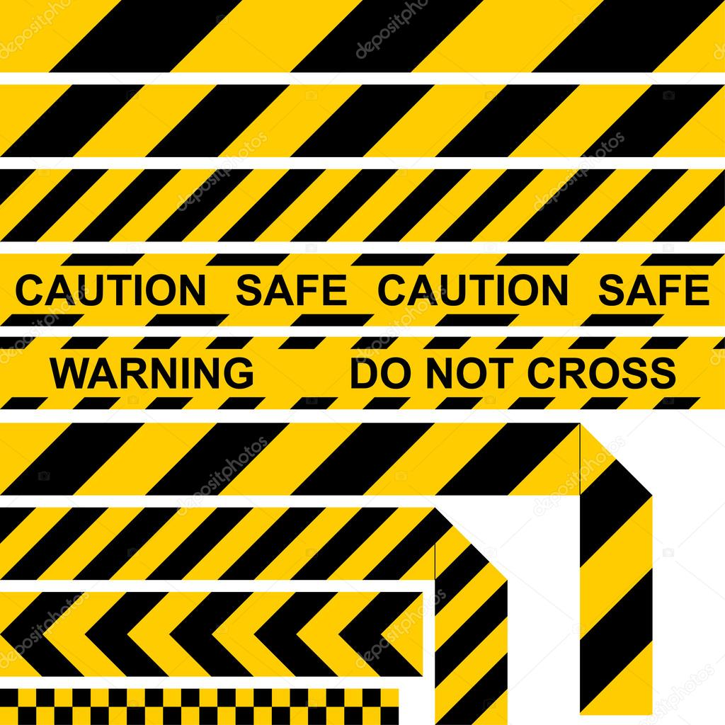 Gut bekannt Absperrband gelb-schwarze Farbe, Barrier Tape, restriktive Band KH39