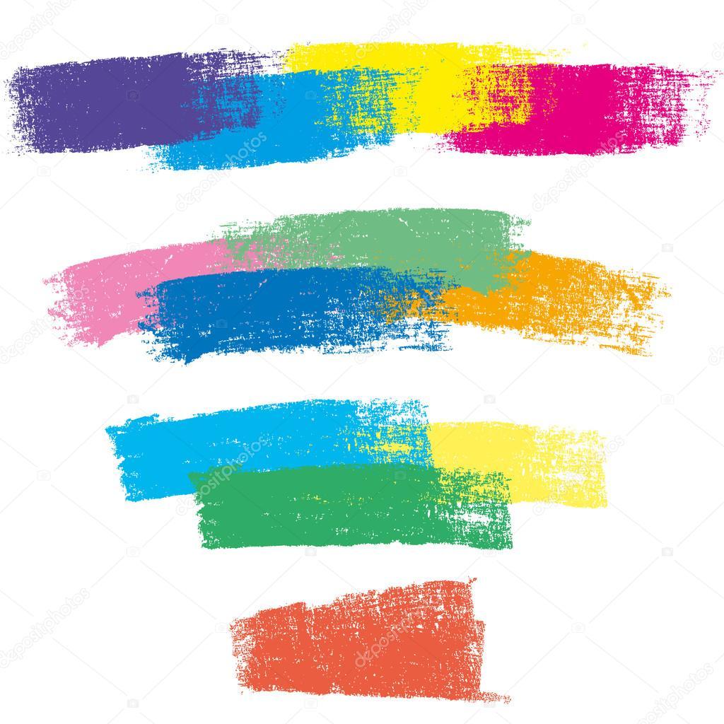 Color chalk strokes