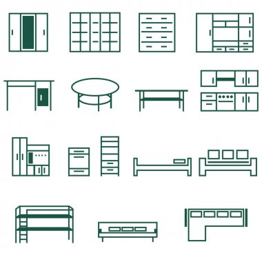 Furniture for home and office icon se