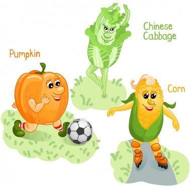 Vegetables engage in sports part 4