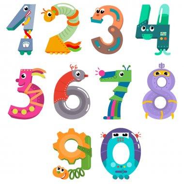 Numbers like robots