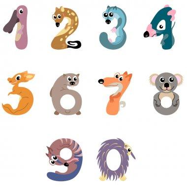 Numbers like Australian animals