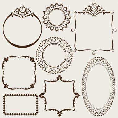 Collection of decorative vintage frames