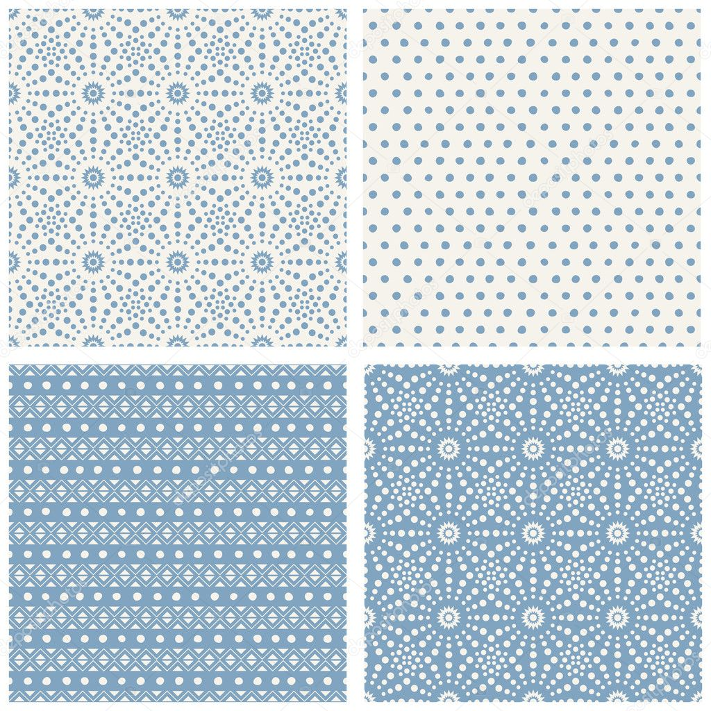 Set Of Simple Geometric Patterns U2014 Stock Vector
