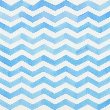 Watercolor blue striped background