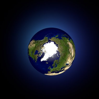 World earth globe Arctic hemisphere