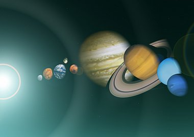 View of the solar system