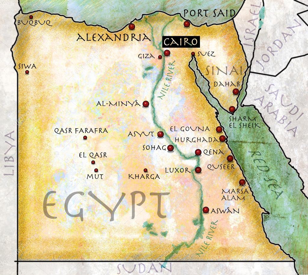 Mapa De Egipto Antiguo.Fotos Mapa De Egipto Mapa De Egipto Efecto Antiguo