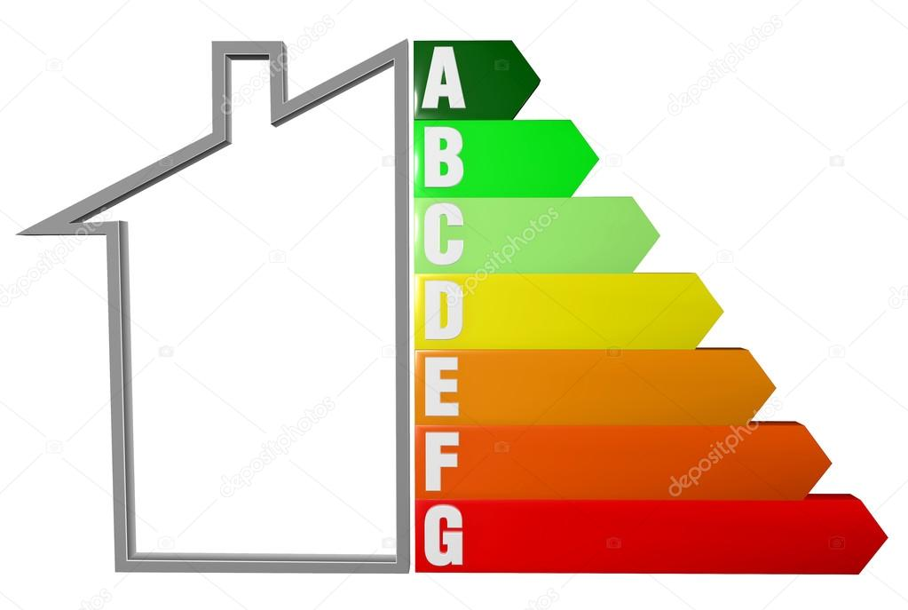 Energy efficiency and anergy saving of a home