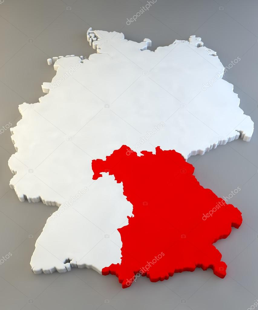 Bayern Germany Map With Regions Stock Photo C Vampy1 44277873