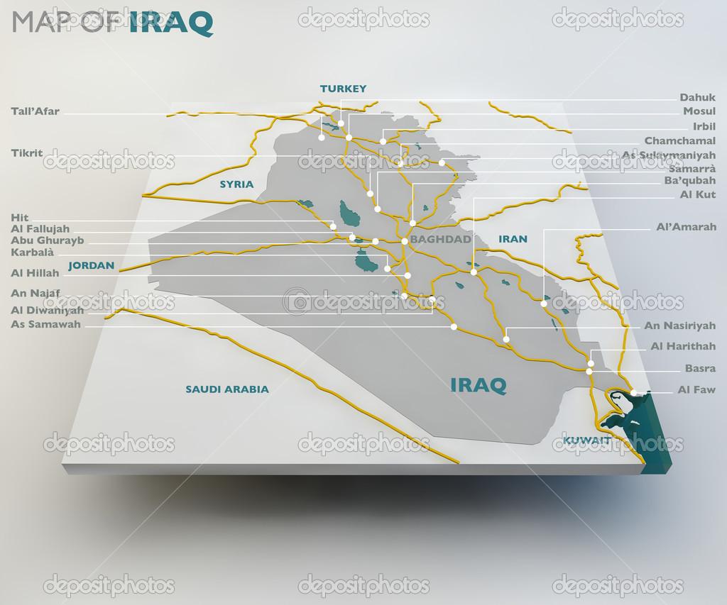 Map of Iraq — Stock Photo © vampy1 #51125621