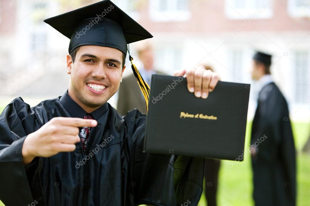 graduation student excited about diploma stock photo © sjlocke  graduation student excited about diploma stock photo 24574595