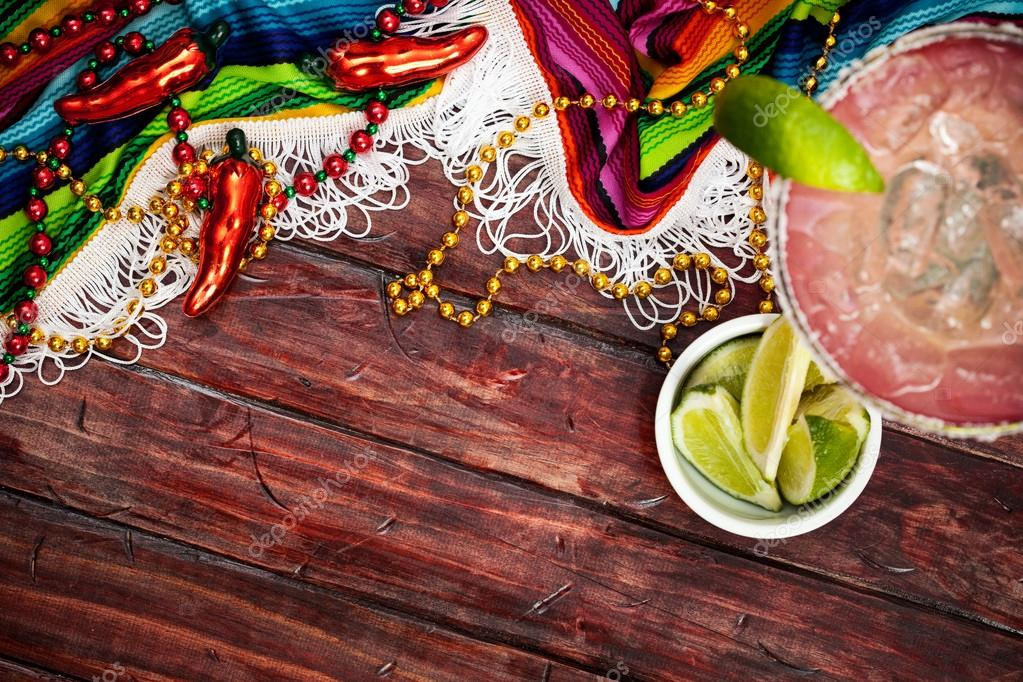 Background Cinco De Mayo Celebration With Margarita Stock Photo