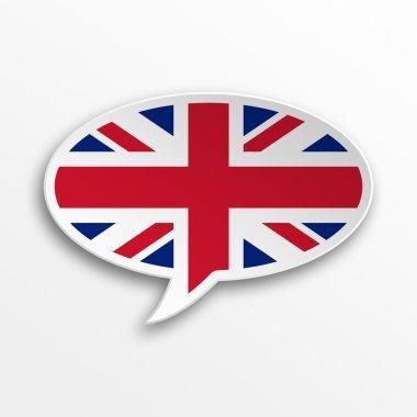 3d speech bubble - England
