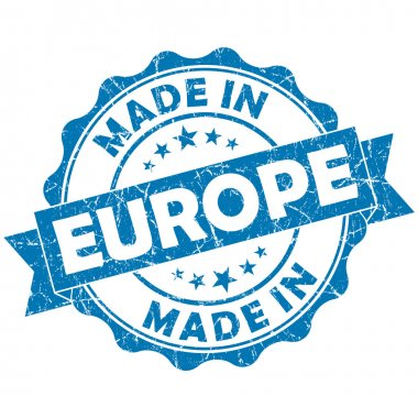 Made in europe stamp