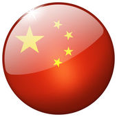 China Round Glass Button