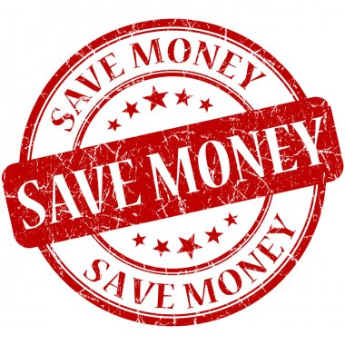 Save Money Red stamp