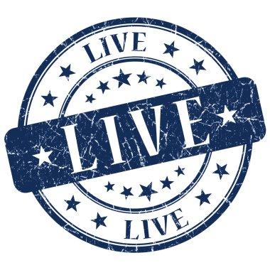 Live Blue Stamp