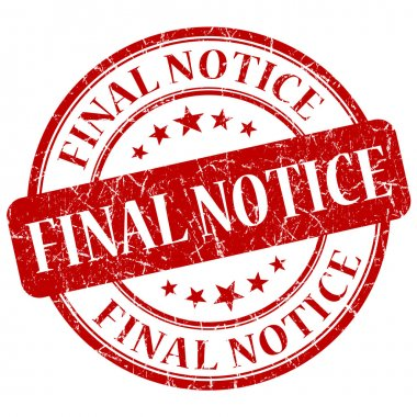 Final Notice Red Stamp