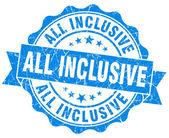 Fotografia tutti i francobolli inclusiva grunge blu