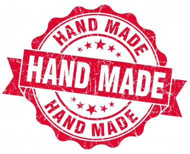 hand made grunge red stamp