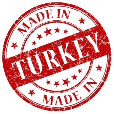 Made In Turkey Red stamp