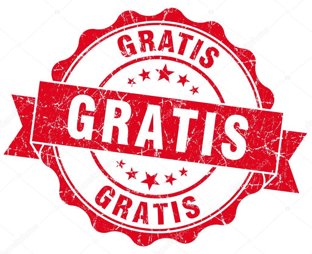 gratis grunge round red seal \u2014 stock photo © aquir014b 34370825gratis grunge round red seal \u2014 stock photo
