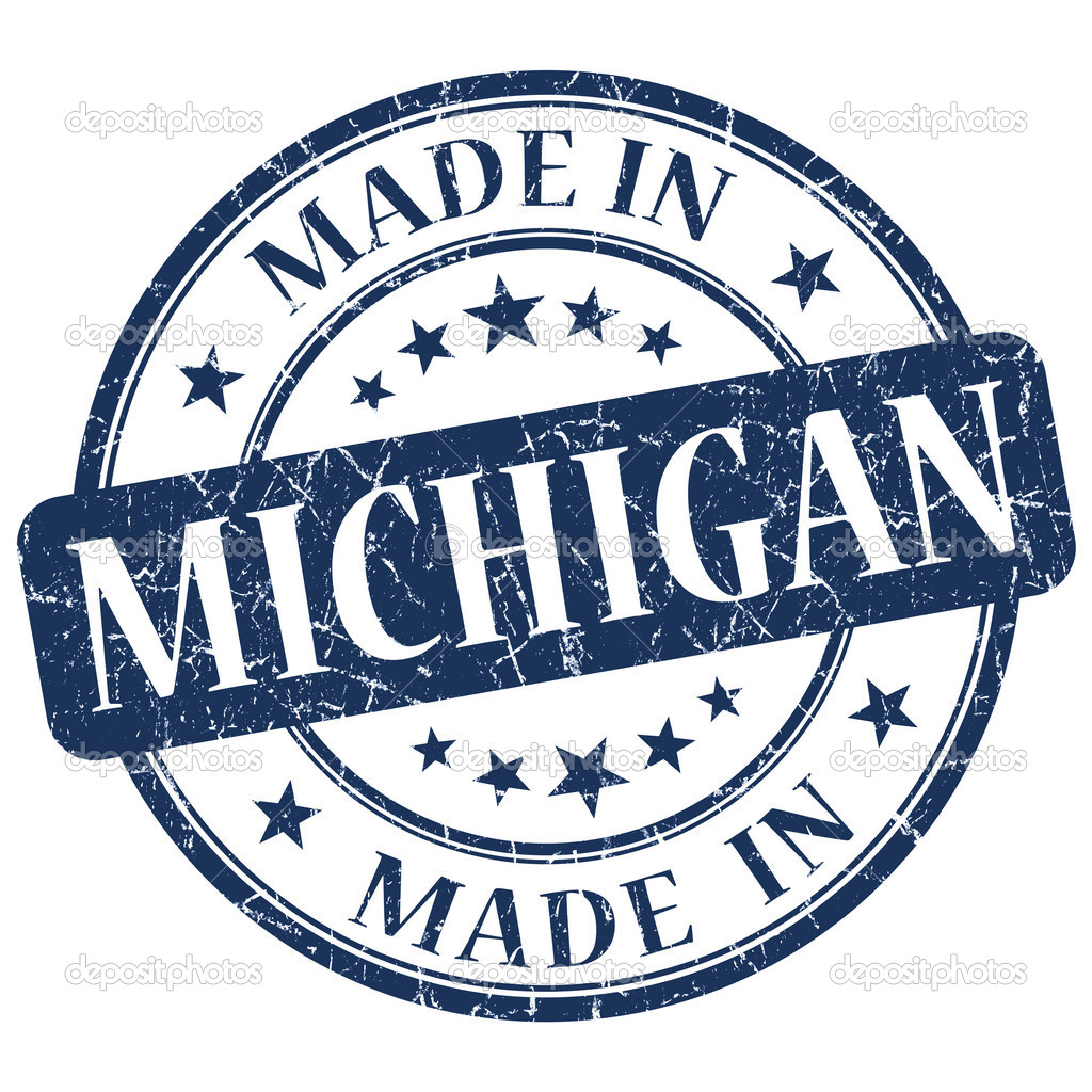 Made In Michigan >> Made In Michigan Blue Round Grunge Isolated Stamp Stock