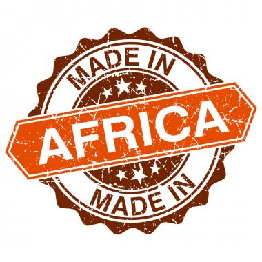 made in Africa vintage stamp isolated on white background