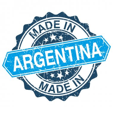 made in Argentina vintage stamp isolated on white background