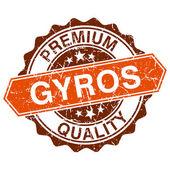 Fotografie gyros výstřední razítko izolovaných na bílém pozadí