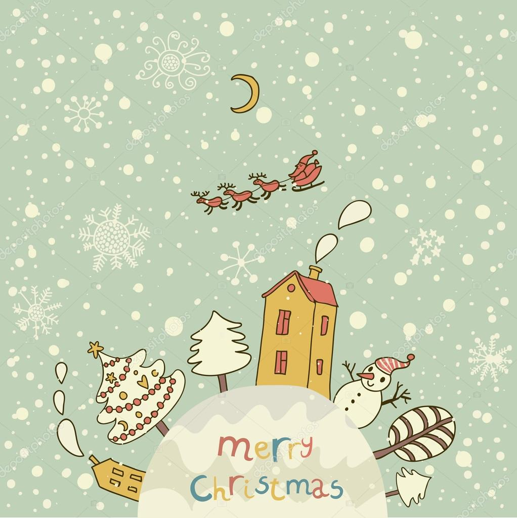 Merry christmas cartoon vector background for nice backgrounds cartoon vector background for nice backgrounds and holiday cards stock vector voltagebd Image collections