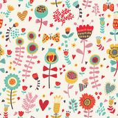 Fényképek Simple cartoon floral seamless pattern for amazing wallpapers