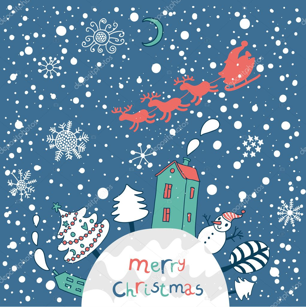Merry christmas cartoon vector background for nice backgrounds cartoon vector background for nice backgrounds and holiday cards stock vector kristyandbryce Gallery